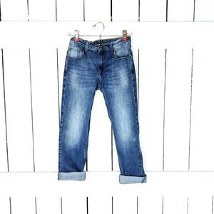 Kids/childrens Wranglers blue faded denim jeans